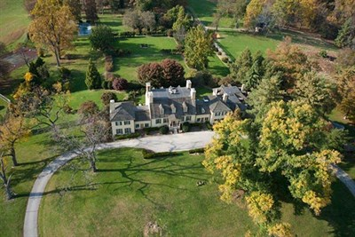 Overhead view of Belmont Manor & Historic Park