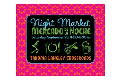 Takoma Langley Crossroads Night Market poster