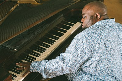 A man playing the piano.