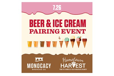 Beer & Ice Cream Pairing poster