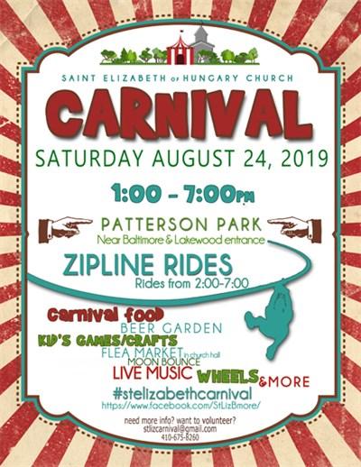 St. Elizabeth Summer Carnival 2019 Poster