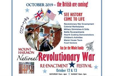 National Revolutionary War Reenactment Flyer