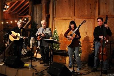 Four member Maryland bluegrass band, Free Range Blue