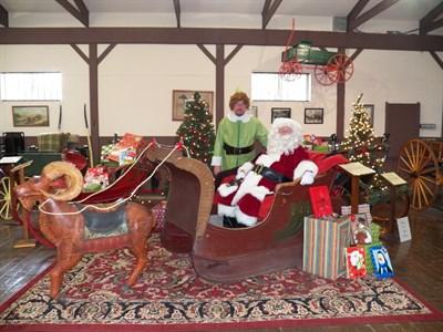 santa with an elf