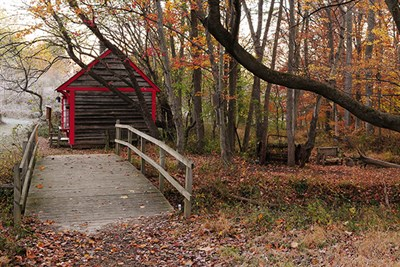 Covered Bridge featured on the Fall Equinox Hike