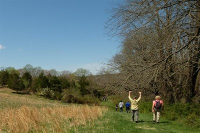people on a serendipity hike