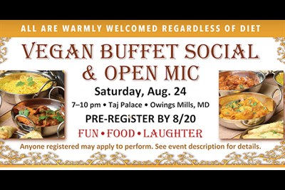 Event Banner featuring vegan food.