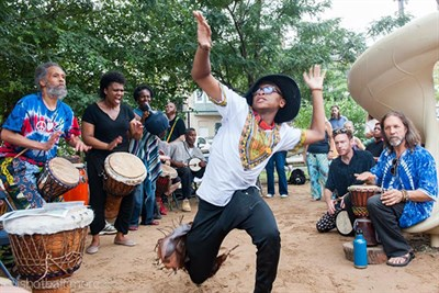 Dancing and Jamming at the Baltimore Rhythm Festival