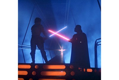 Star Wars image with Luke and Darth Vader
