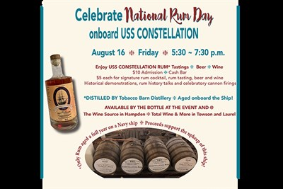 Rum Day on the USS COSTELLATION poster