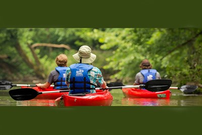 Enjoy a scenic paddle along the Potomac River.