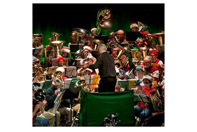 Tuba Christmas on stage