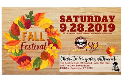 Days End Farm Horse Rescue Fall Festival poster