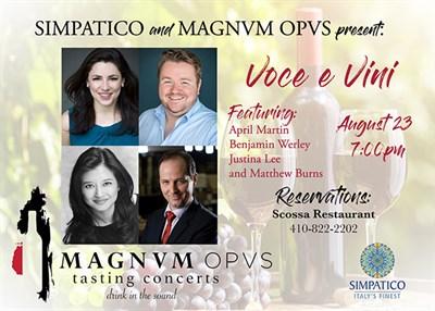 Italian Opera & Wine Dinner Banner