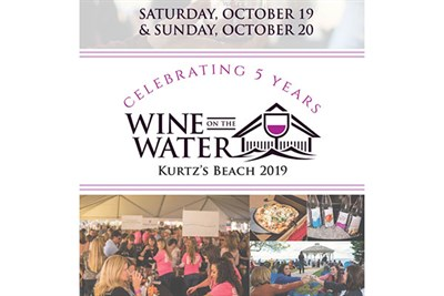 Wine On The Water at Kurtz's Beach poster