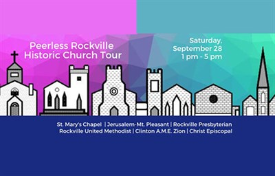 Peerless Rockville Historic Church Tour poster