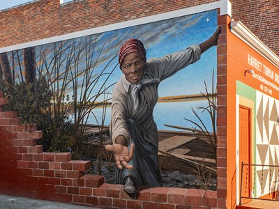 Harriet Tubman Mural by Michael Rosato at the Harriet Tubman Museum