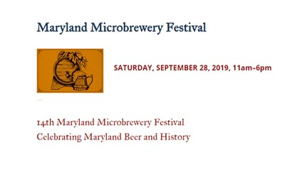 Maryland Microbrewery Festival at Union Mills Homestead poster