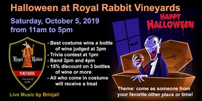 Halloween at Royal Rabbit Vineyards