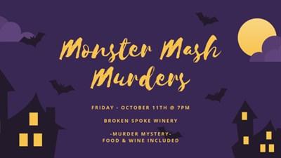 Monster Mash Murder Ovation Dinner Invitation