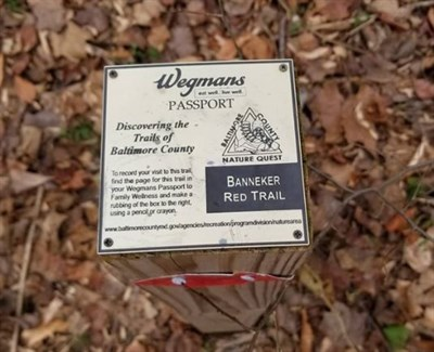 Banneker Red Trail sign