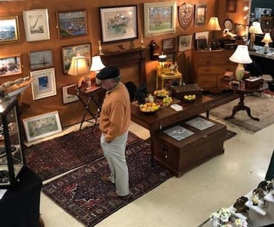Man at the Antique Show