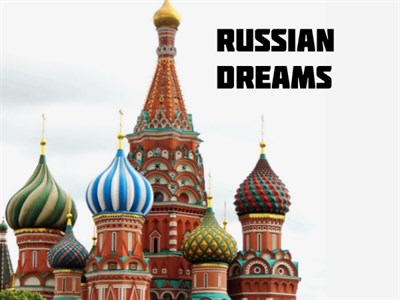 Russian Dreams poster with colorful Byzantine domes