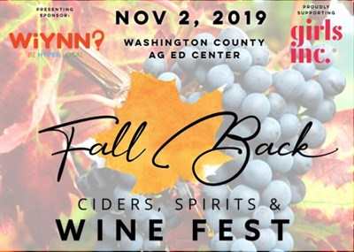 Fall Back Wine Fest poster