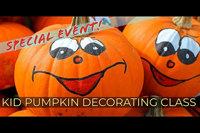 Kid Pumpkin Decorating Party poster