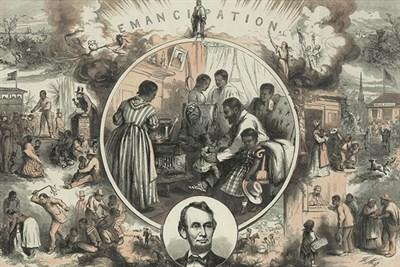 Historic Drawing of Emancipation Day