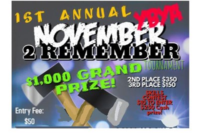 November 2 Remember Axe Throwing Tournament