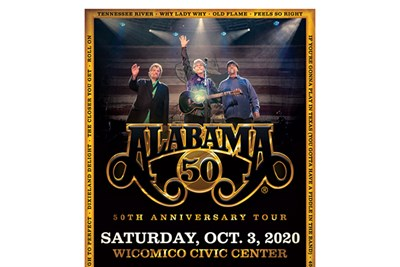 Alabama 50th Anniversary Tour poster
