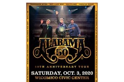 Alabama 50th Anniversary Tour poster