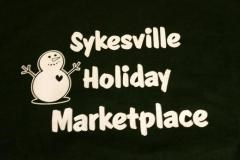 Marketplace Poster with a Snowman