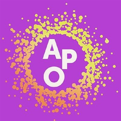 American Pops Orchestra purple and yellow logo