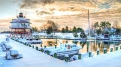 Calvert Marine Museum in winter