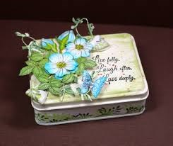 Decorated mint tin.