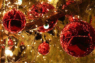 Holiday glitter and decorations