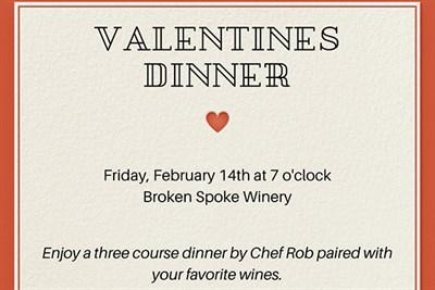 Valentine's Dinner at Broken Spoke Invitation