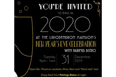 Ring in 2020 at the elegant Liriodendron Mansion!