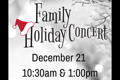Family Holiday Concert flyer