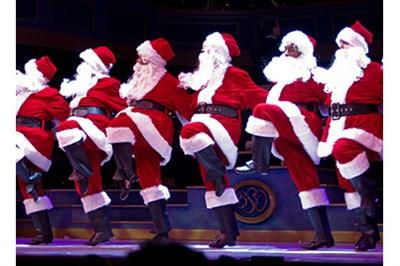 Tap Dancing Santas