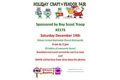 Christmas Craft and Vendor Fair flyer