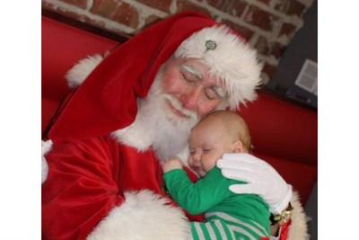 Santa holding a baby