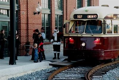 A historic street car for TrolleyFest