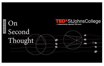 TEDxStJohnsCollege Banner