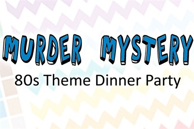 1980s Theme Mystery Party poster
