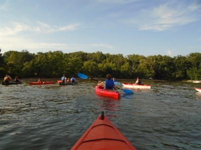 Paddling along the Elk River.