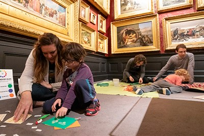 Sensory Morning at the Walters is enjoyed by a family