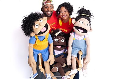 The Callaloo team of people and puppets